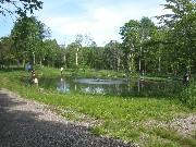 エサ釣り池