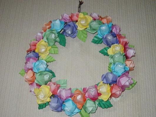すべての折り紙 折り紙 折り方 バラ : 折り紙の花 : レオン★クラフト ...