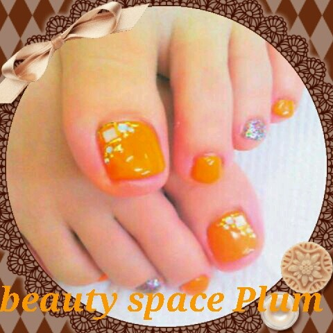 Foot 艶オレンジ