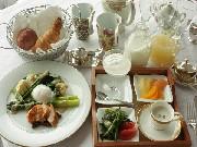 有機野菜たっぷりの朝食